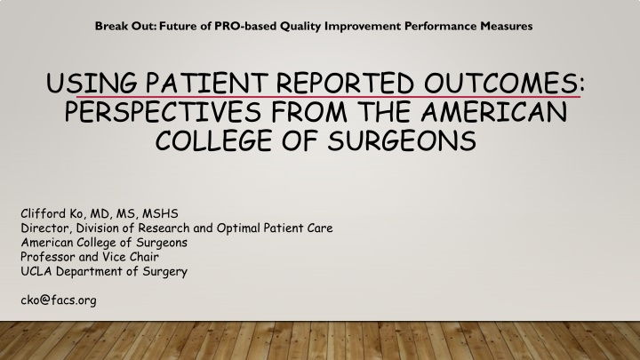 break out future of pro based quality improvement