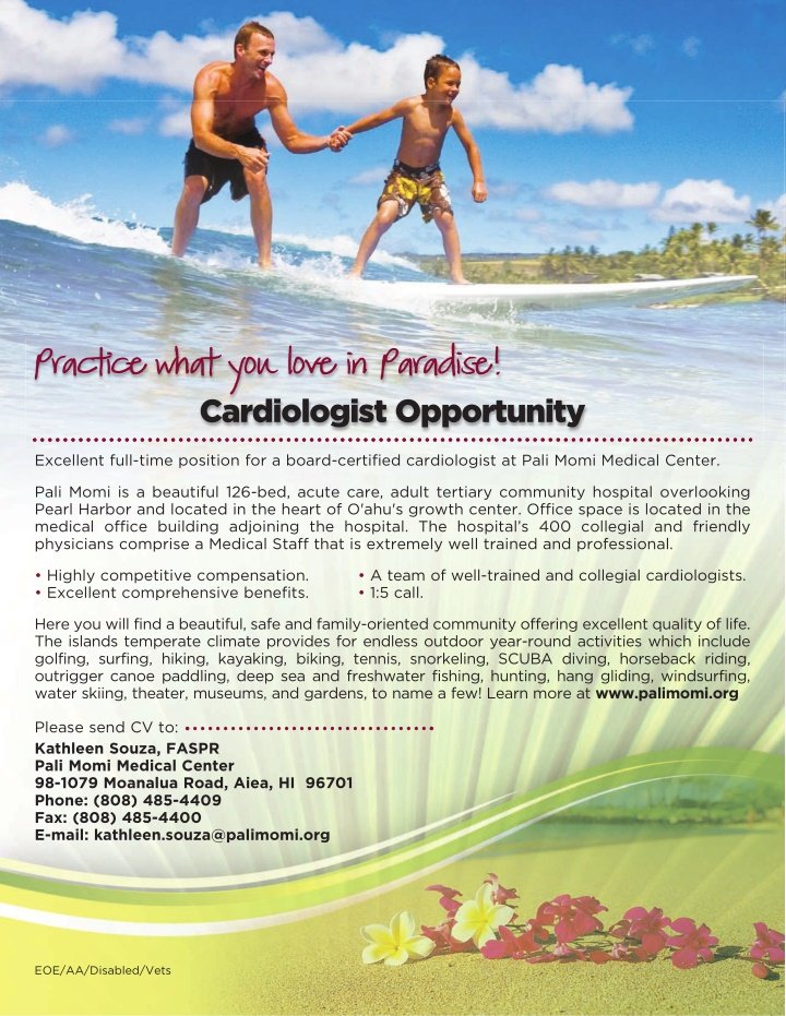 practice what you love in paradise cardiologist
