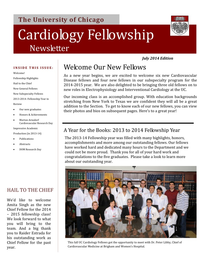 the university of chicago cardiology fellowship