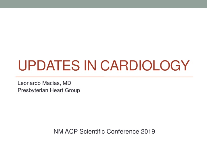 updates in cardiology