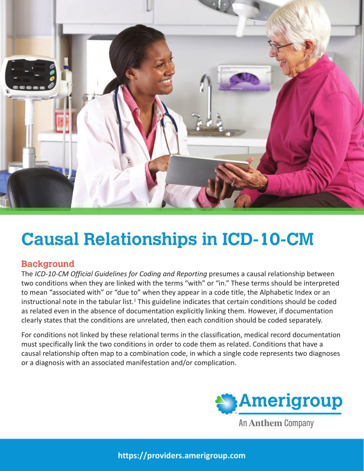 causal relationships in icd 10 cm