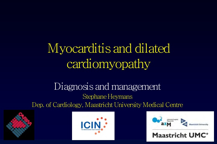 myocarditis and dilated cardiomyopathy