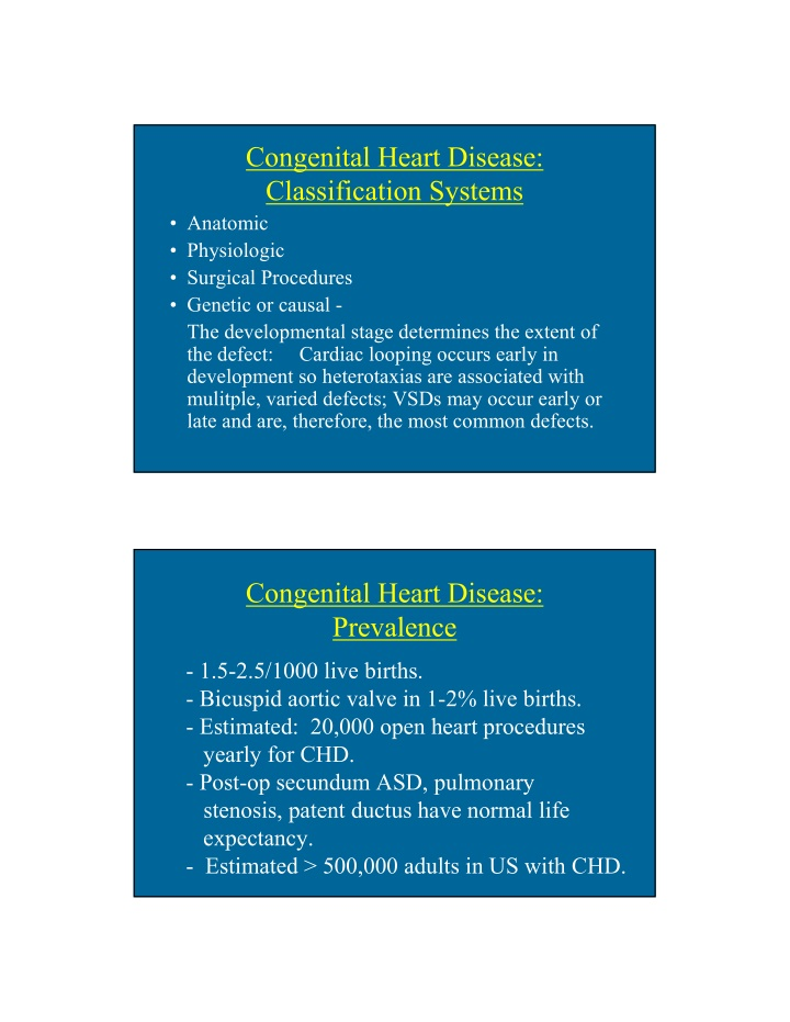 congenital heart disease classification systems