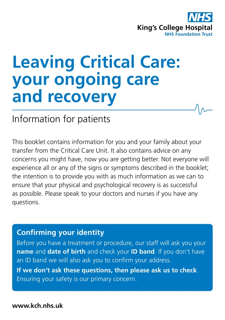 leaving critical care your ongoing care