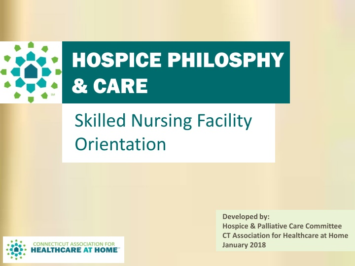 hospice philosphy care coordination skilled