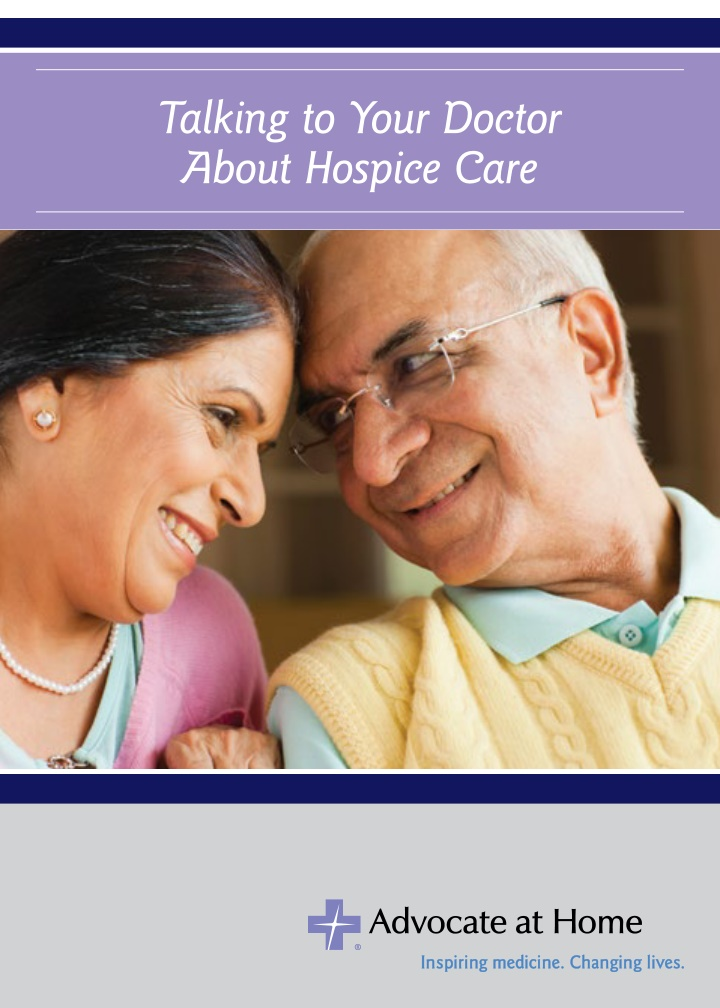 talking to your doctor about hospice care