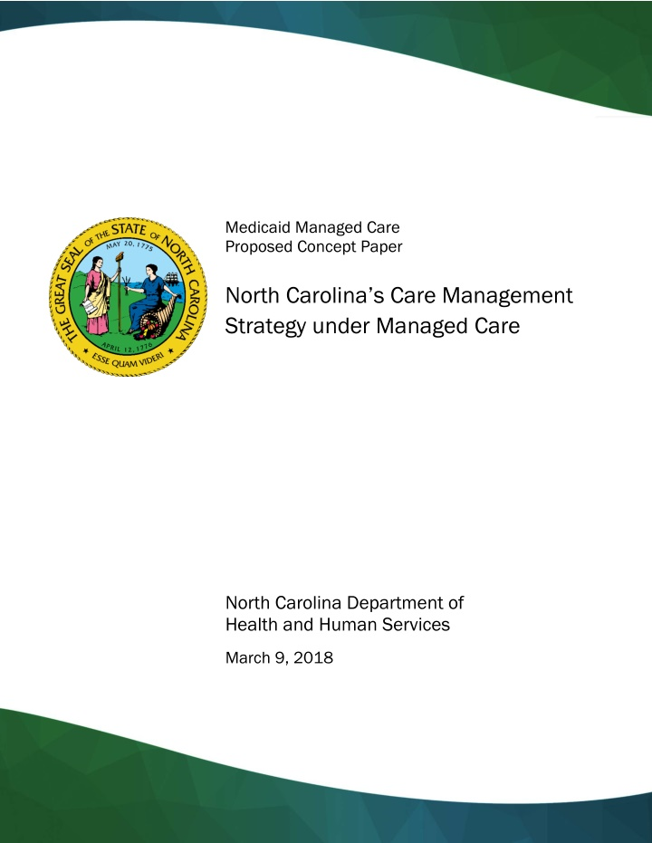 medicaid managed care proposed concept paper