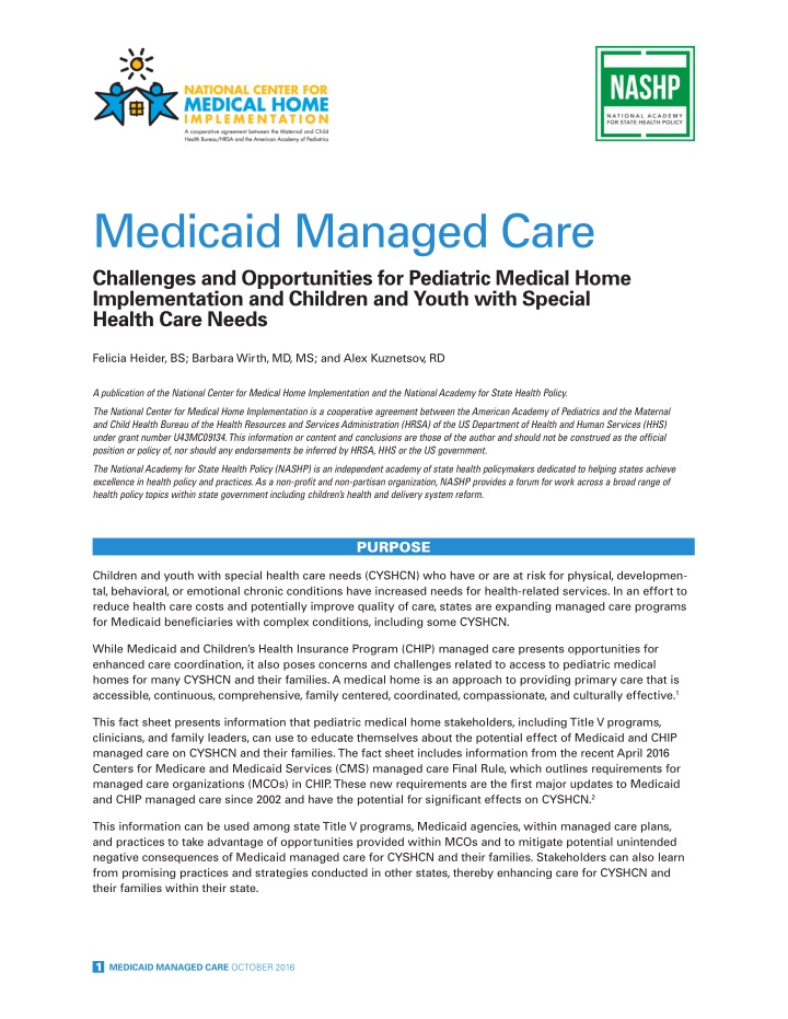medicaid managed care challenges