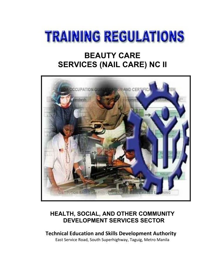 beauty care services nail care nc ii