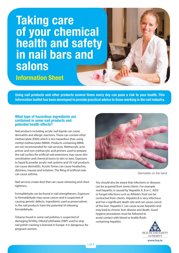taking care of your chemical health and safety