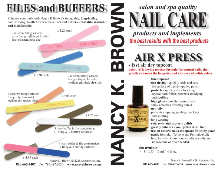files and buffers enhance your nails with nancy