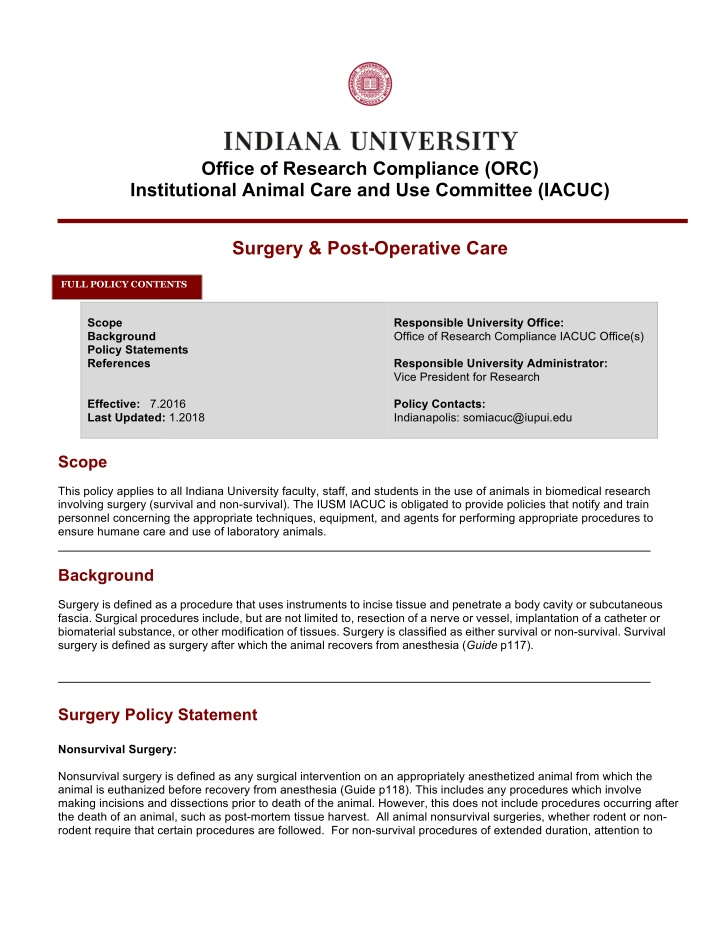 indiana university office of research compliance