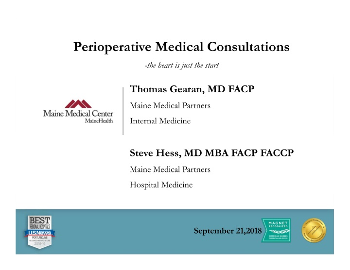 perioperative medical consultations