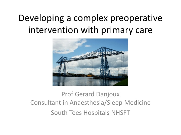 developing a complex preoperative intervention