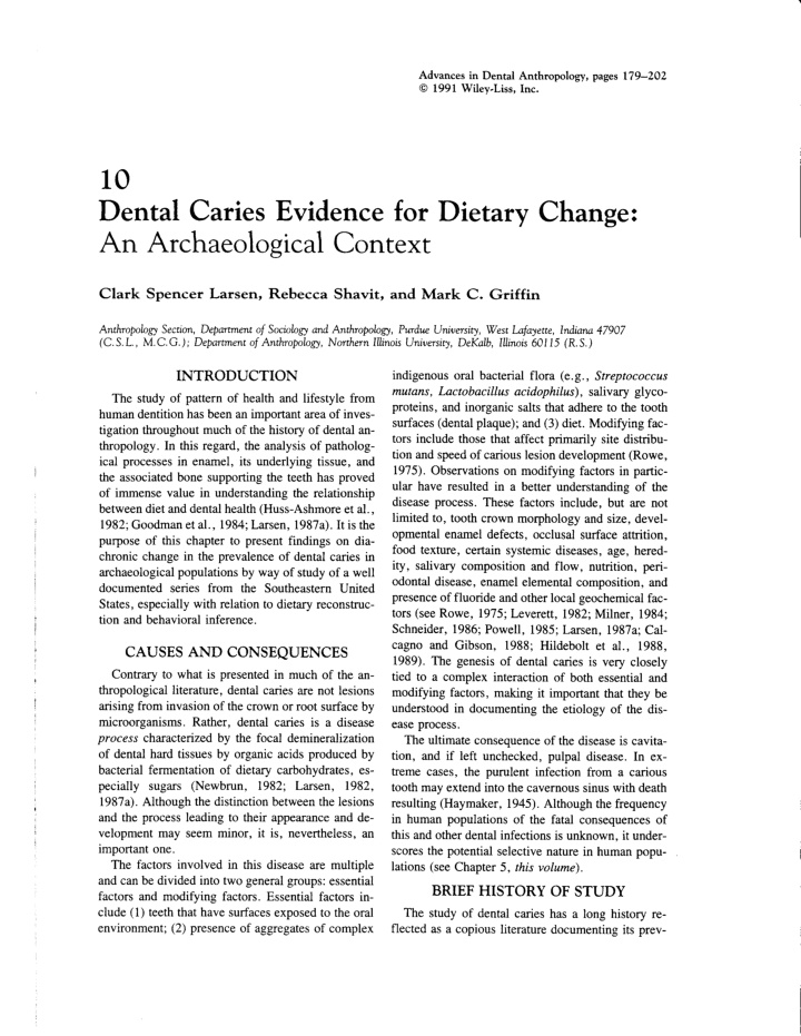 advances in dental anthropology pages
