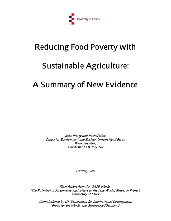 reducing food poverty with