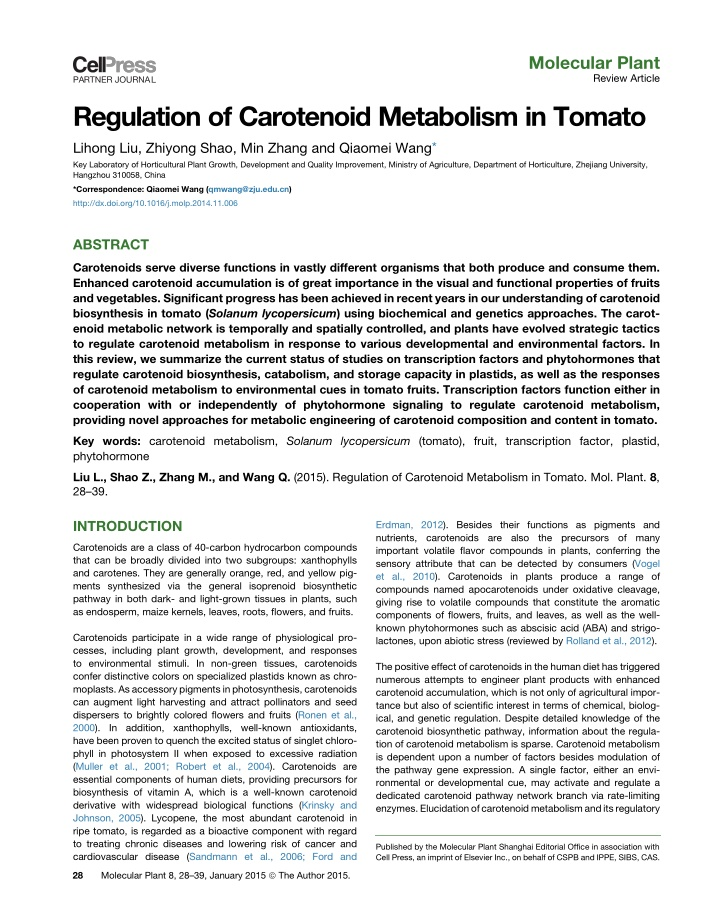 molecular plant review article