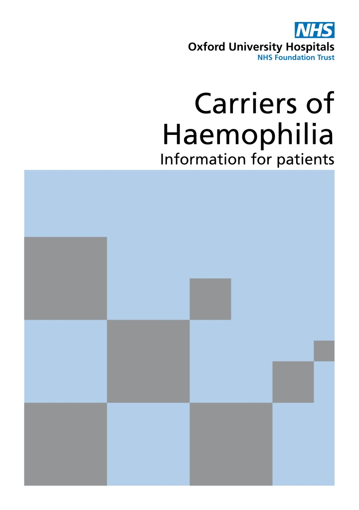 carriers of haemophilia information for patients