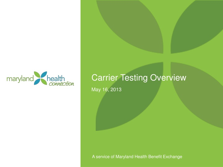 carrier testing overview