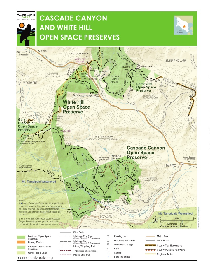 cascade canyon and white hill open space preserves