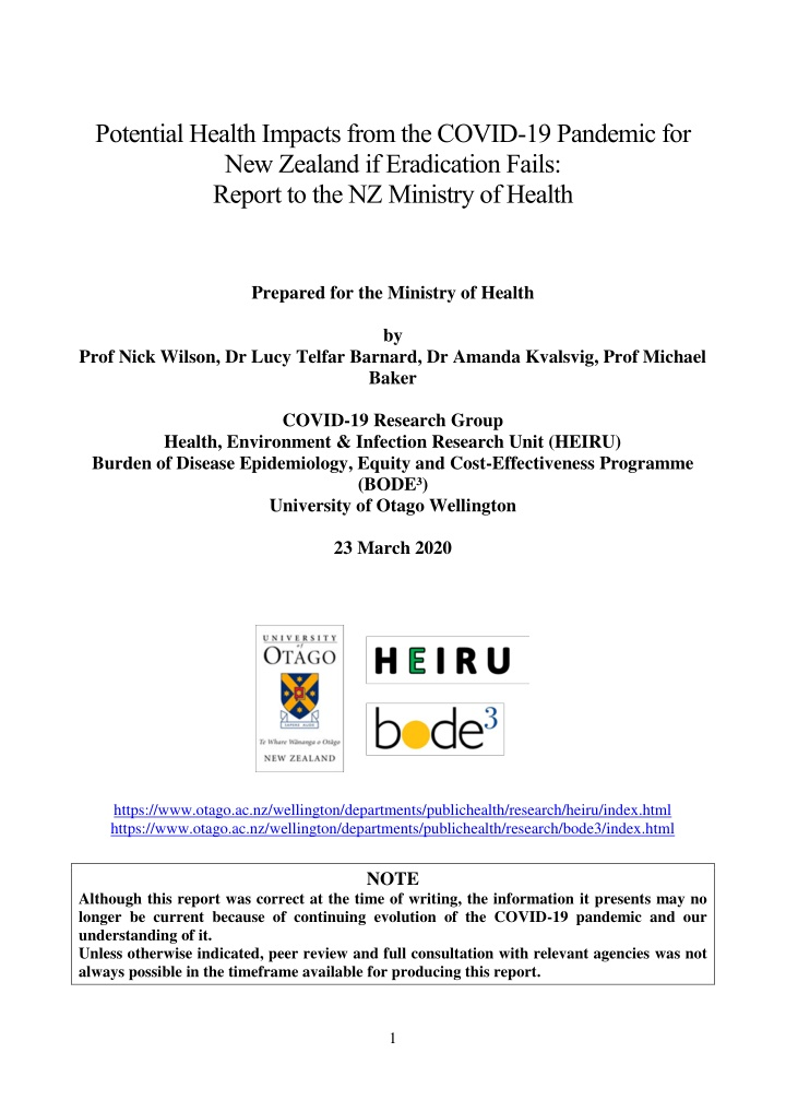 potential health impacts from the covid