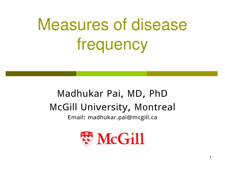 measures of disease frequency