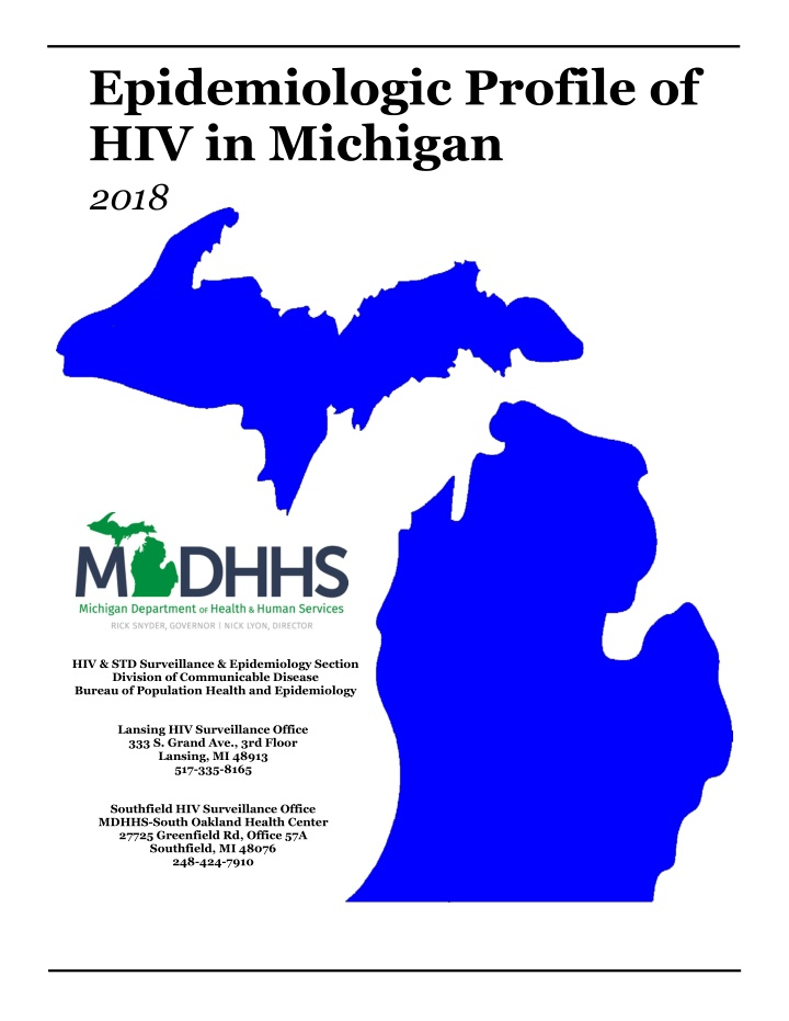 epidemiologic profile of hiv in michigan 2018