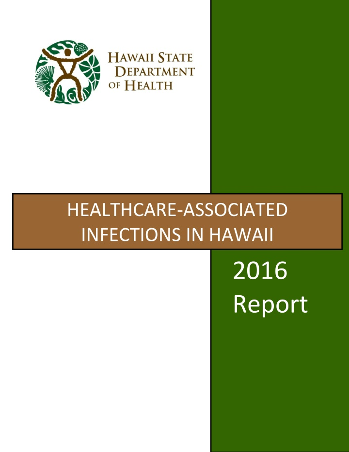 healthcare associated infections in hawaii