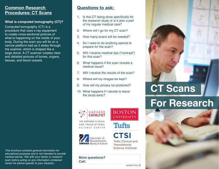 common research procedures ct scans