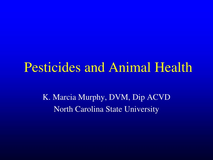 pesticides and animal health