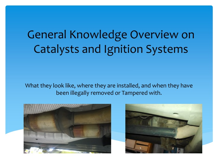 general knowledge overview on catalysts
