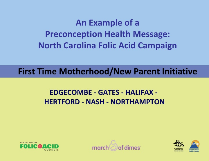 an example of a preconception health message