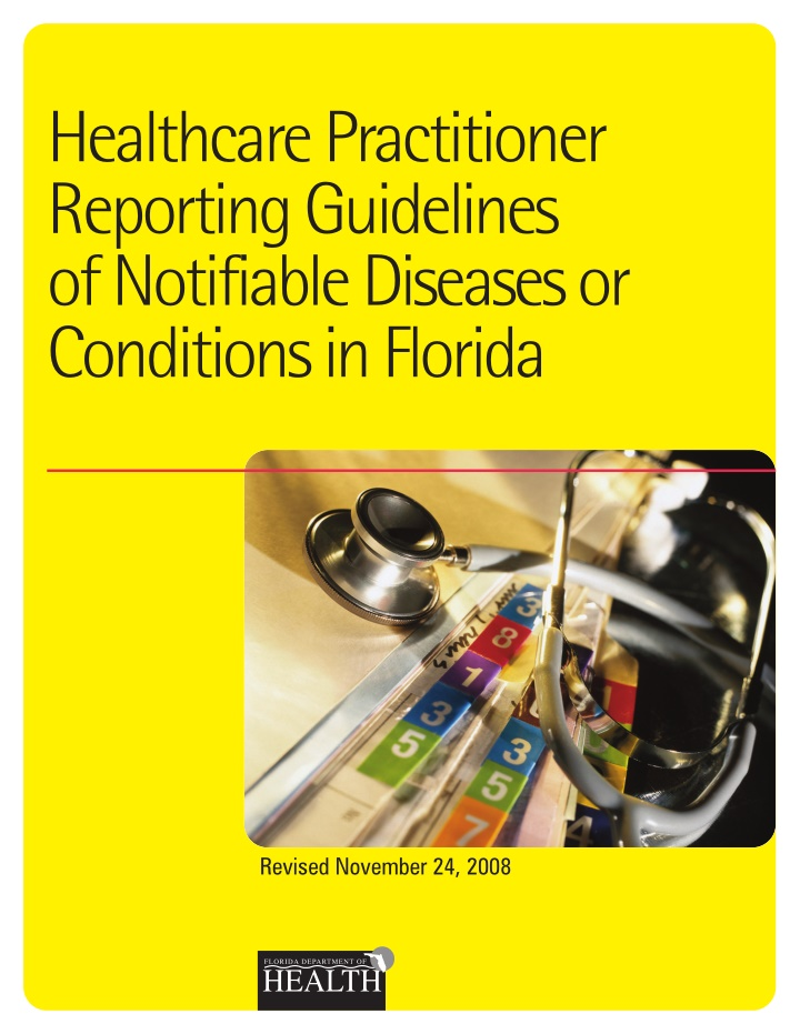 healthcare practitioner reporting guidelines
