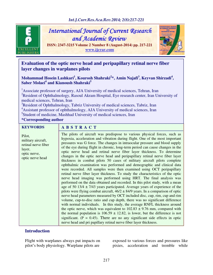 issn 2347 3215 volume 2 number 8 august 2014