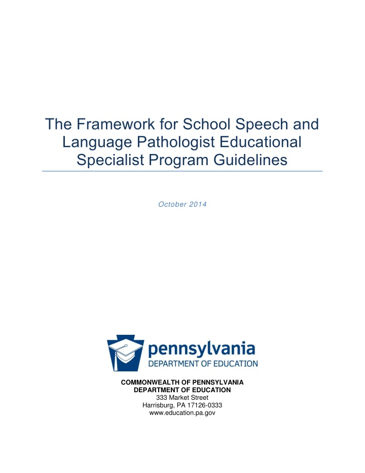 the framework for school speech and language