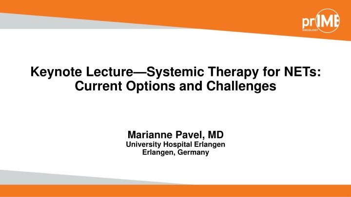 keynote lecture systemic therapy for nets current