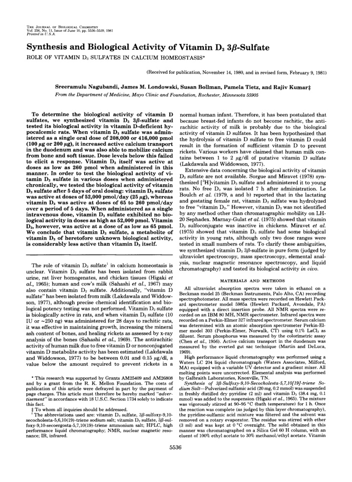 the journal of blolvcical chemistry