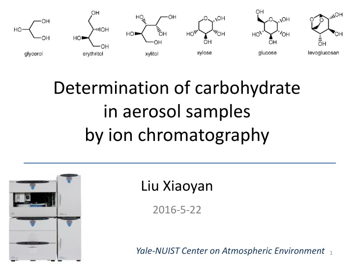 determination of carbohydrate in aerosol samples