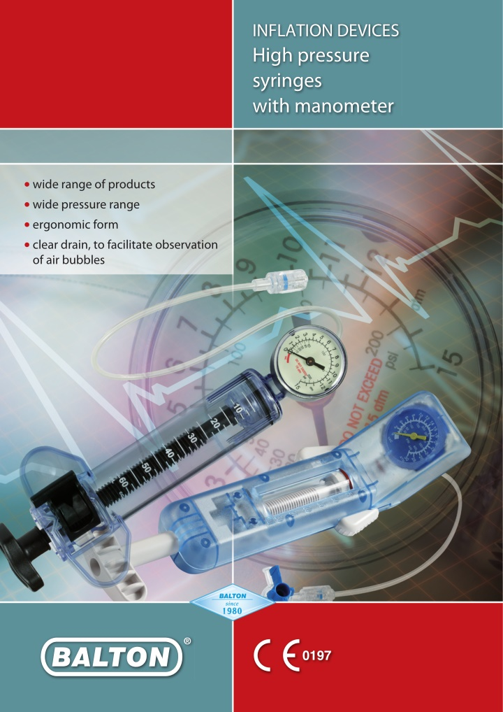 inflation devices high pressure syringes with