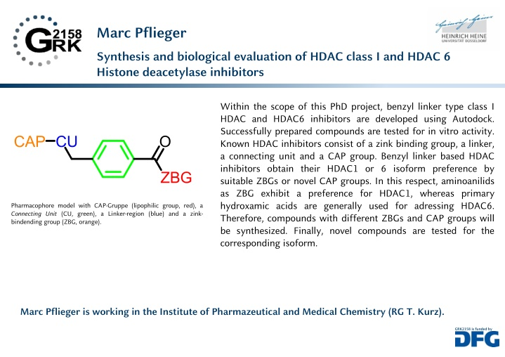 marc pflieger synthesis and biological evaluation
