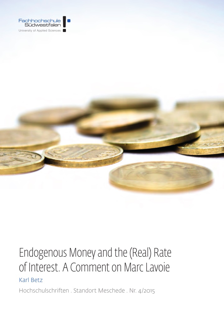 endogenous money and the real rate of interest