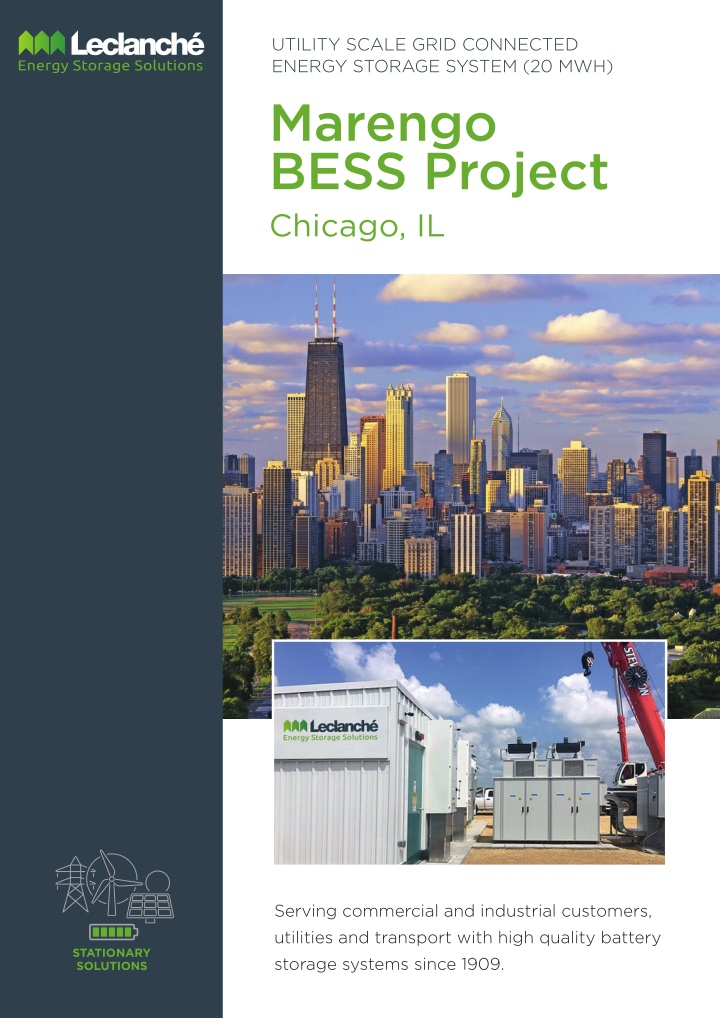 utility scale grid connected energy storage