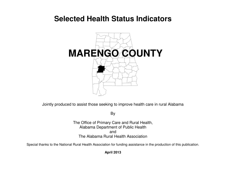 selected health status indicators