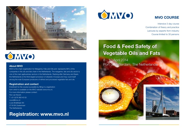 food feed safety of vegetable oils and fats