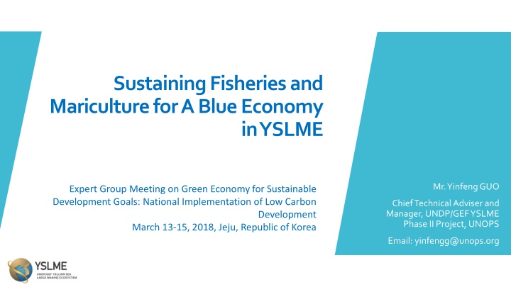 sustaining fisheries and mariculture for a blue
