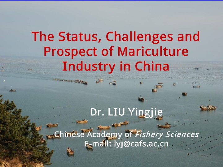 the status challenges and prospect of mariculture
