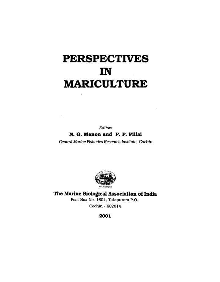 perspectives in mariculture
