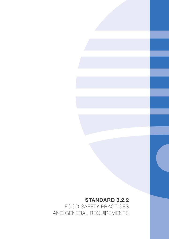 standard 3 2 2 food safety practices and general