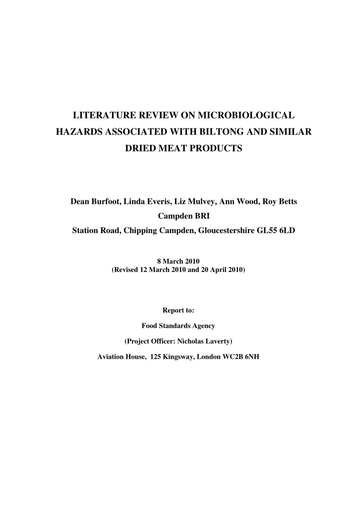 literature review on microbiological