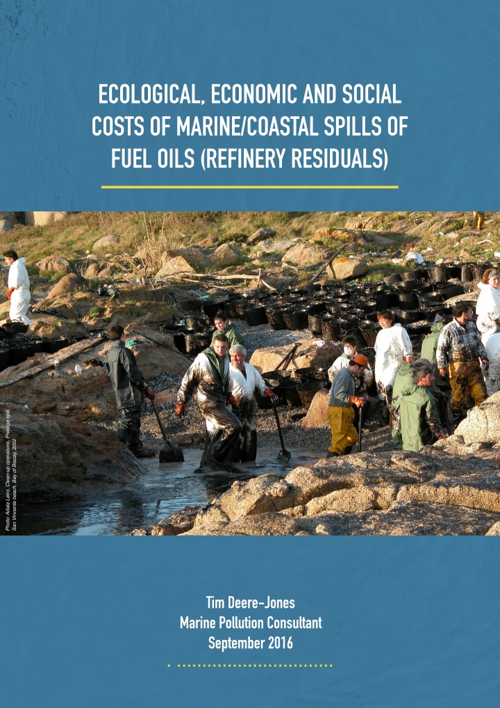 ecological economic and social costs of marine